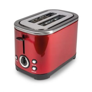 The Kampa Deco Electric 2 Slice Toaster is Sold by Devon Outdoor and The Camping and Kite Centre.