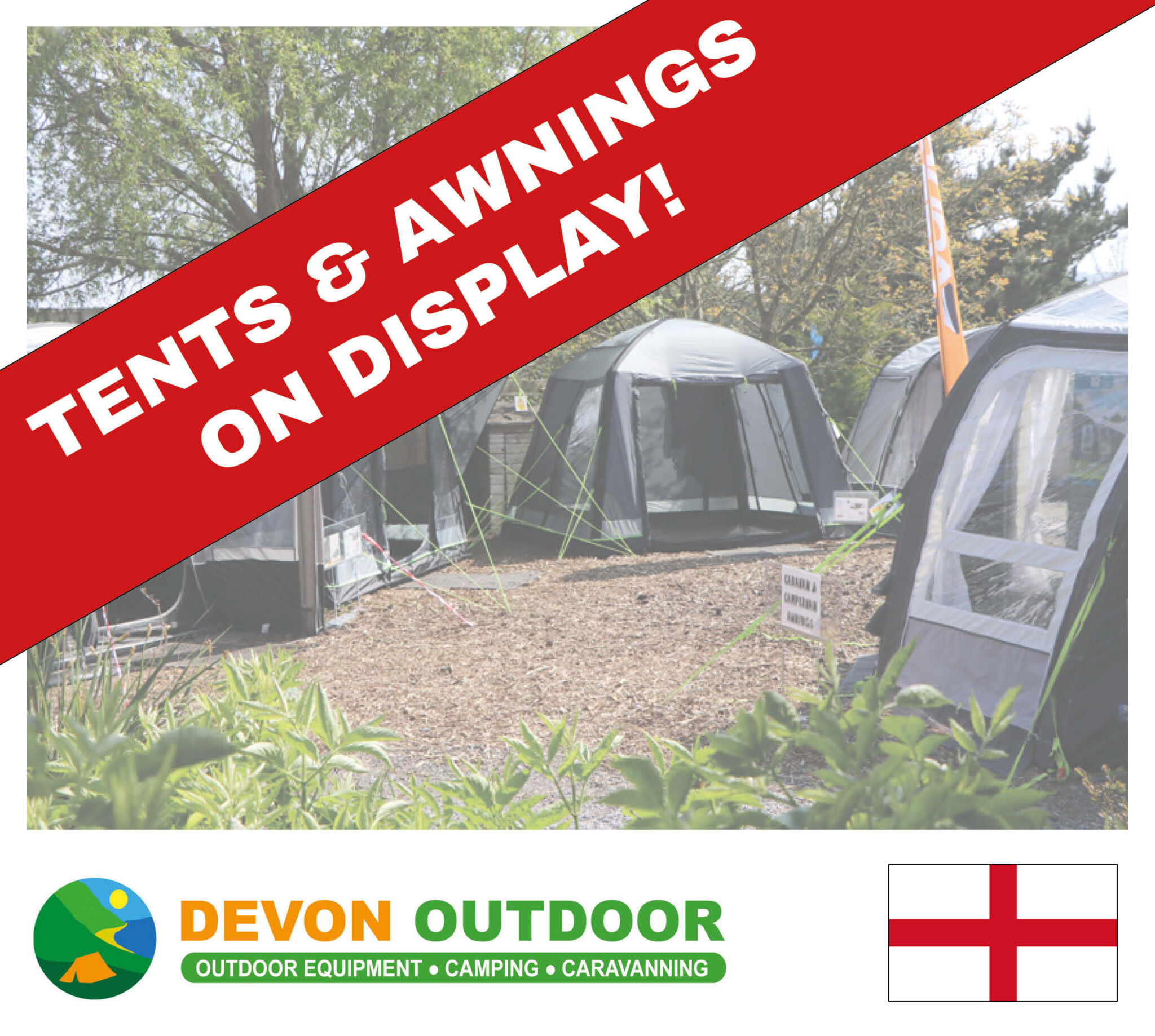 Tent and awning display Barnstaple North Devon