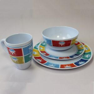 The Outdoor Revolution Retro Camper Melamine Set is Sold by www.outabout.uk