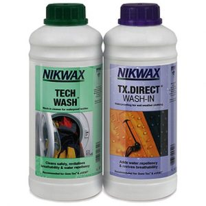 The Nikwax Tech Wash and TX Direct 1Ltr Twin Pack is Sold by Devon Outdoor and The Camping and Kite Centre.