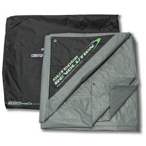 The Outdoor Revolution Airedale 5s Footprint is Sold by Devon Outdoor and The Camping and Kite Centre.