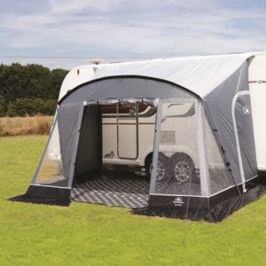 The Sunncamp Swift 390 Deluxe Caravan Awning is Sold by Devon Outdoor and The Camping and Kite Centre.