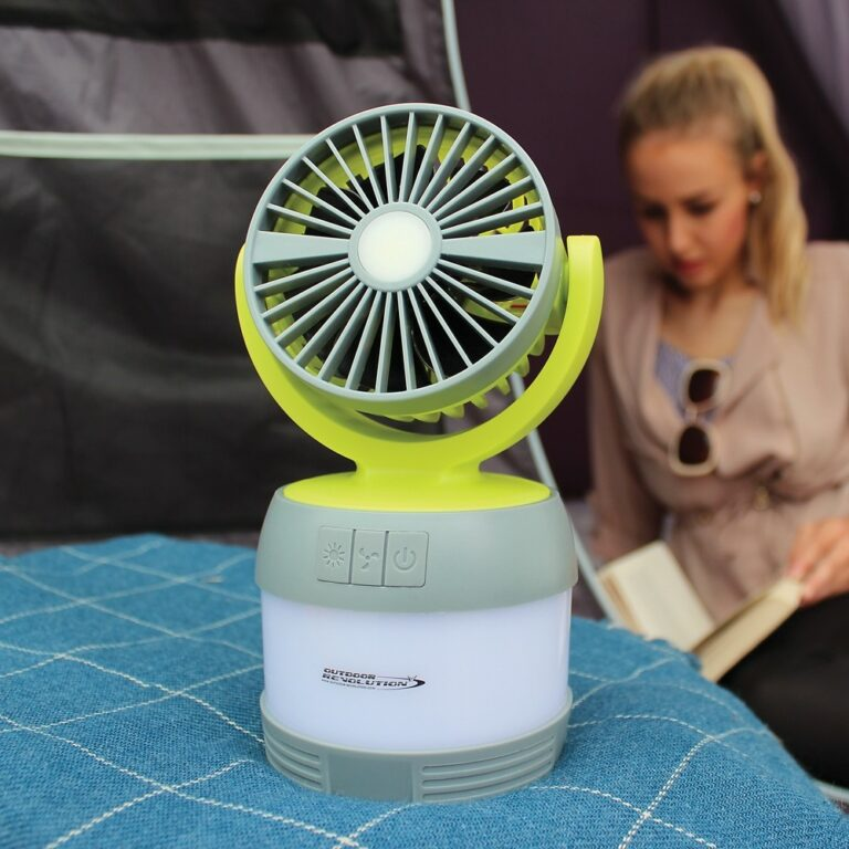 The Outdoor Revolution 3 in 1 Lumi Fan is Sold by www.outabout.uk