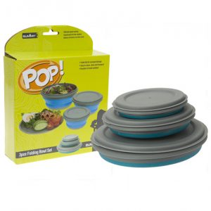 The Summit Pop 3 Piece Folding Bowl Set is Sold by www.outabout.uk
