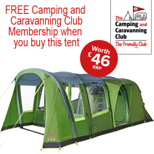 The Coleman Weathermaster 4XL Air Tent is Sold by www.outabout.uk