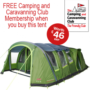 The Coleman Weathermaster 8XL Air Tent is Sold by www.outabout.uk