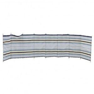 Blue Diamond 9 Pole Windbreak - Sand/Grey stripe