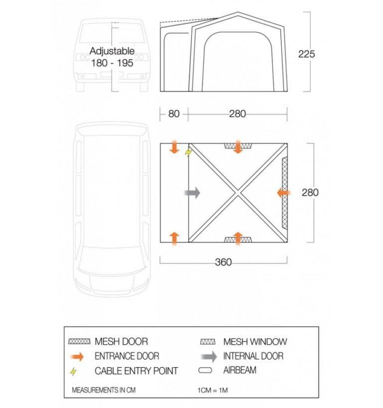 Vango Agora Air VW Driveaway Awning 2021
