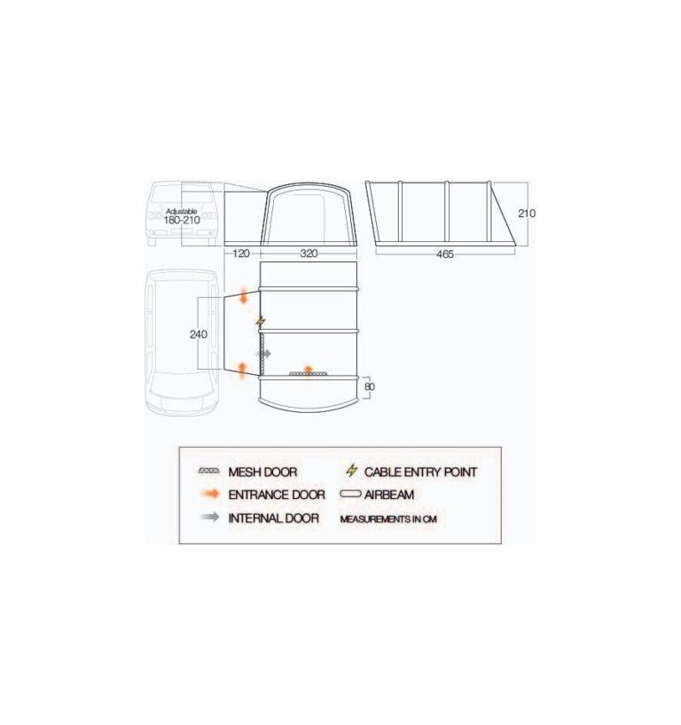 Vango Galli Air TC Low Driveaway Awning 2021