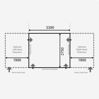 Dometic Club 330 Floorplan